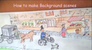 How to draw the backgrounds in ToffeeTV's Urdu version of Humpty Dumpty