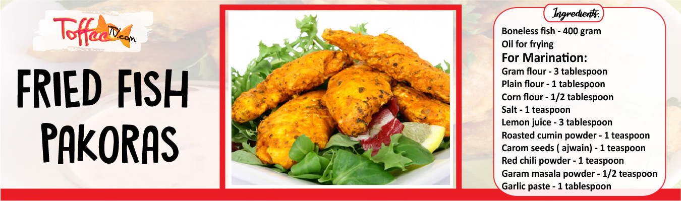 Fried Fish Pakoras