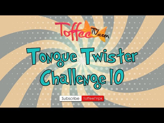 Tongue Twister Challenge
