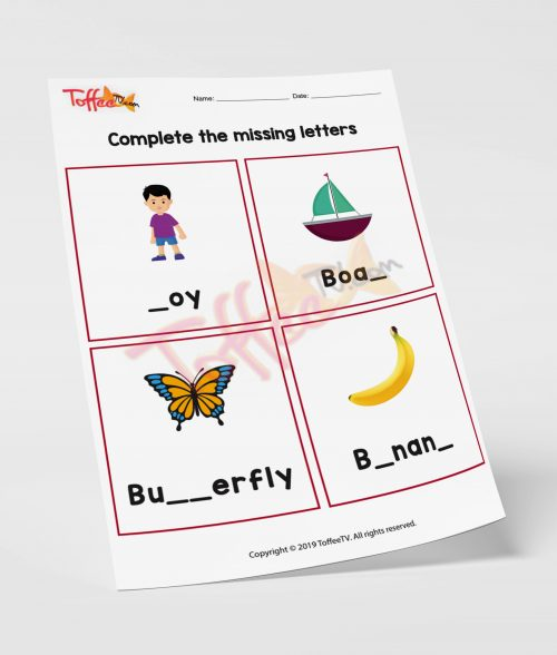 Complete the Missing Letters A-Z