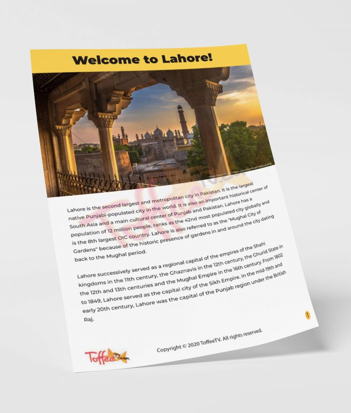 Welcome to Lahore